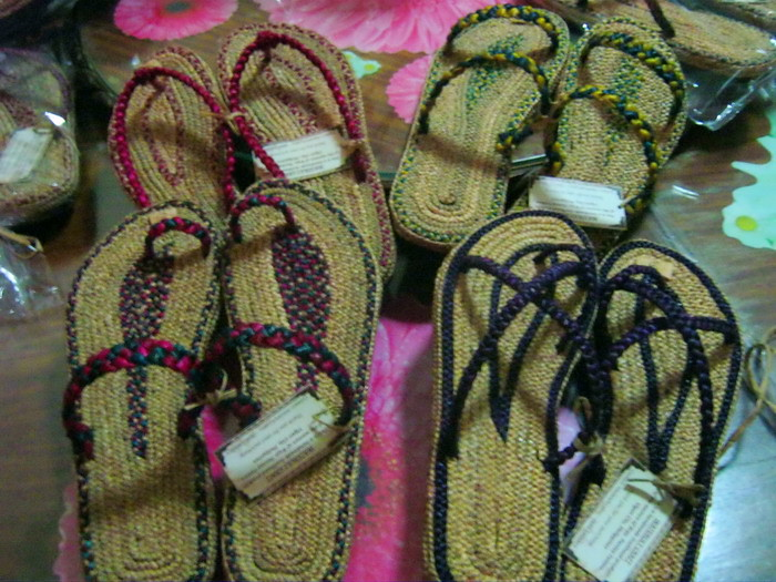 Slippers From Waterlilies