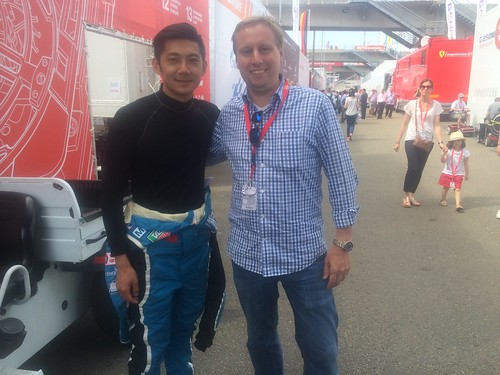 With Ho-Pin Tung during the race