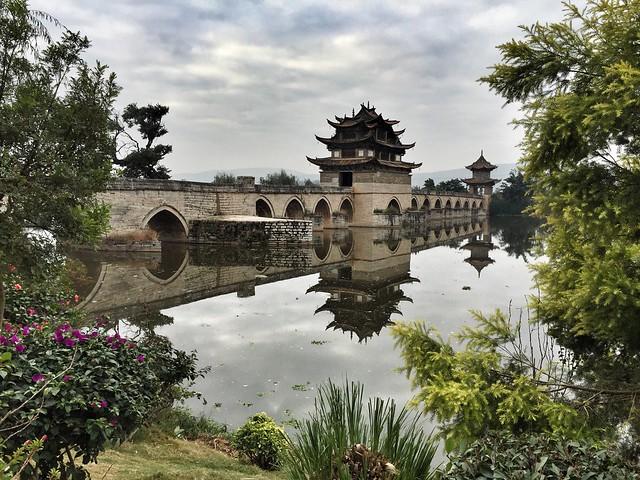 Puente de los dos dragones cerca de Jianshui, en la provincia china de Yunnan