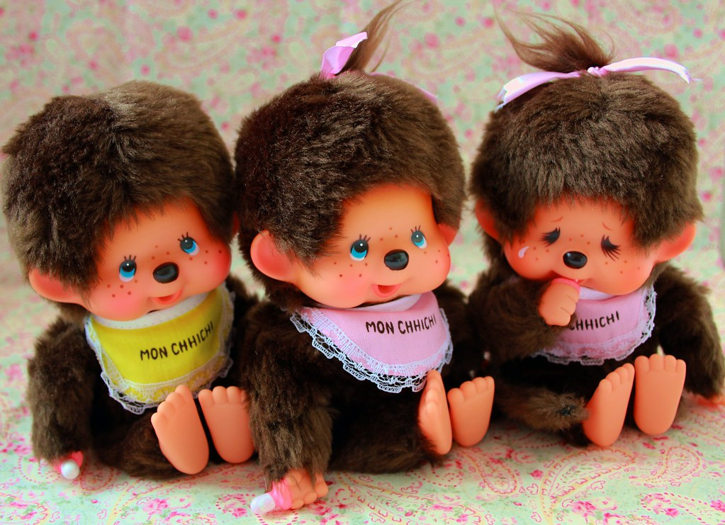 Boys Toys From The 80s : Monchhichi boy girl crying german
