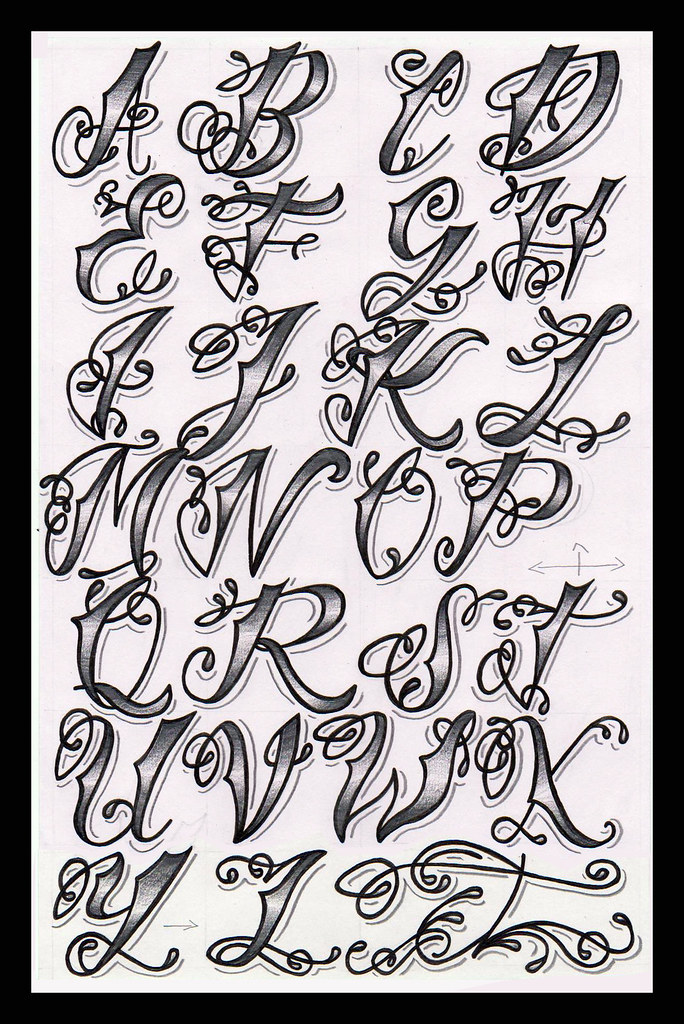 tattoo lettering alphabet cholo alphabet as someone who is interested in 12750 | 7067639311 e925cb55e8 b
