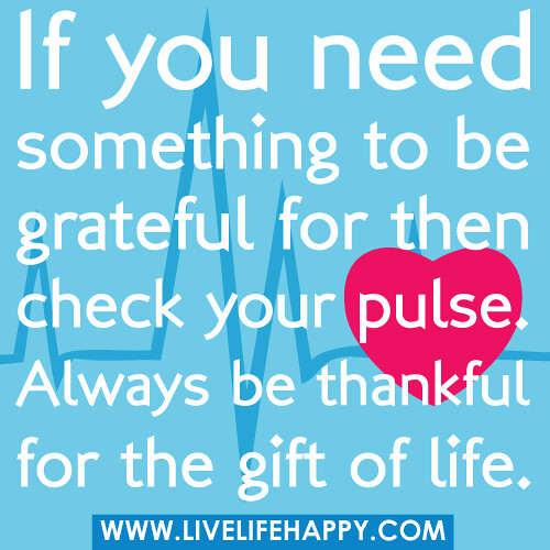 Thankful Of Life Quotes: If You Need Something To Be Grateful For Then Check Your P
