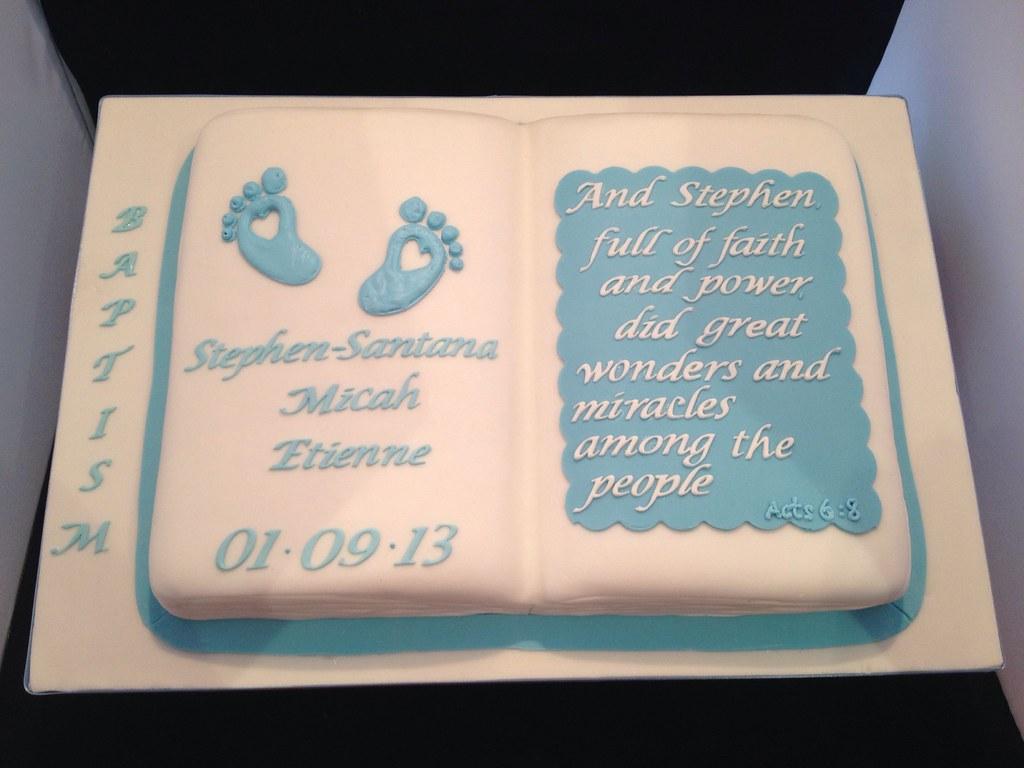 Christening Cake Book Design :  Baby Feet  Baptism Cake Vanilla sponge covered in ...