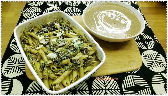 150512 蘑菇濃湯與烤義大利麵-01