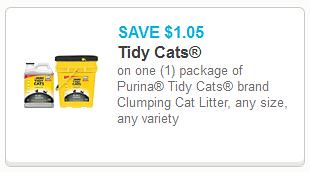 photo regarding Tidy Cat Litter Coupons Printable identified as $1.05/1 Tidy Cats Clutter Coupon - $5.02 at Meijer!
