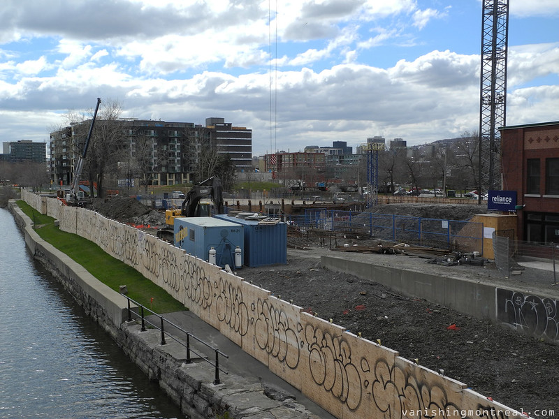 Construction next to Lachine canal