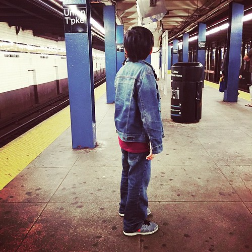 Teaching this #LittleNewYorker, @angelogon2004 , how to ride the #subway on our way to #Manhattan because #ThisIsHowWeDoItInNewYork . #mynewyork #motherhood #motherandson #NYC #publictransportation #mta