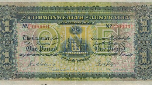 Australia's first pound note