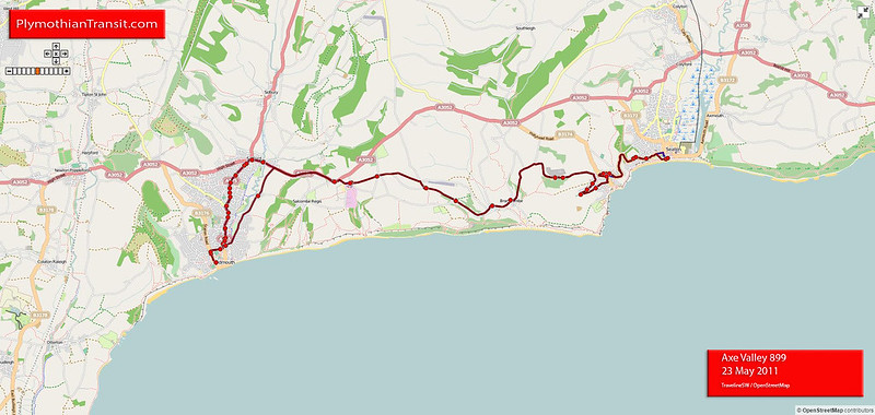 899 Sidmouth - Seaton - Lyme Regis