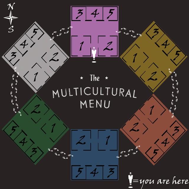 Multicultural Menu Event Layout