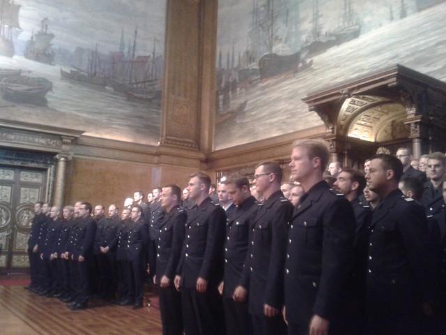 Vereidigung von Feuerwehrmännern im Juni 2015