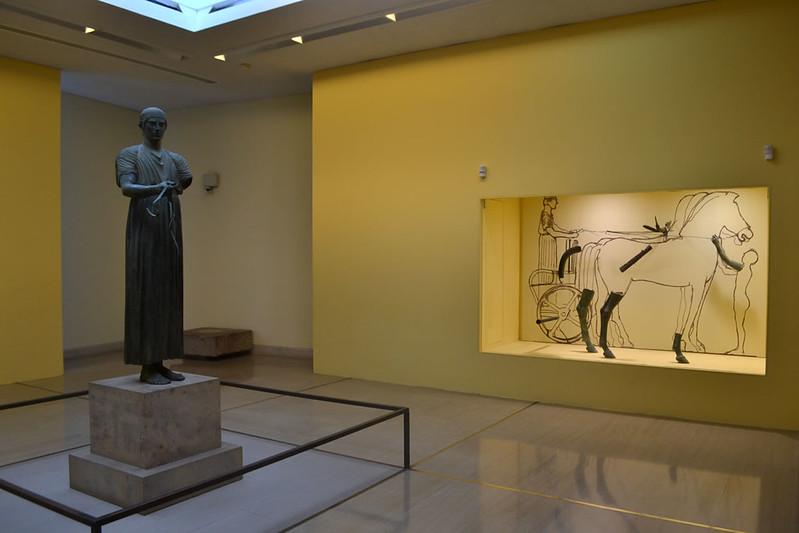 El famoso auriga del Museo de Delfos
