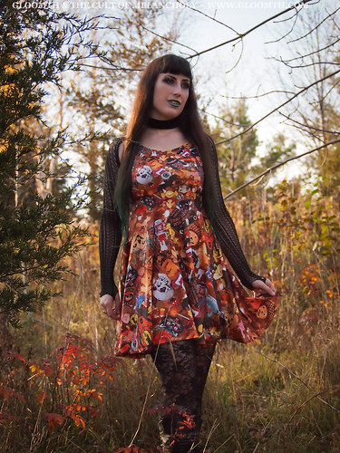 every day is halloween print dress