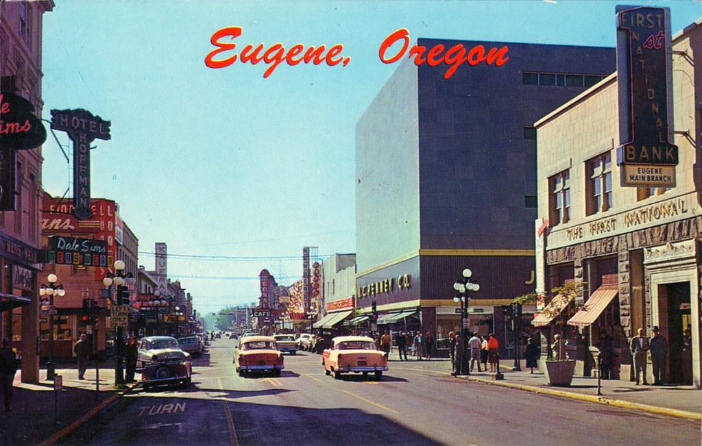 Williamette Street Amp Broadway Eugene Oregon 1950s Ryan Khatam Flickr