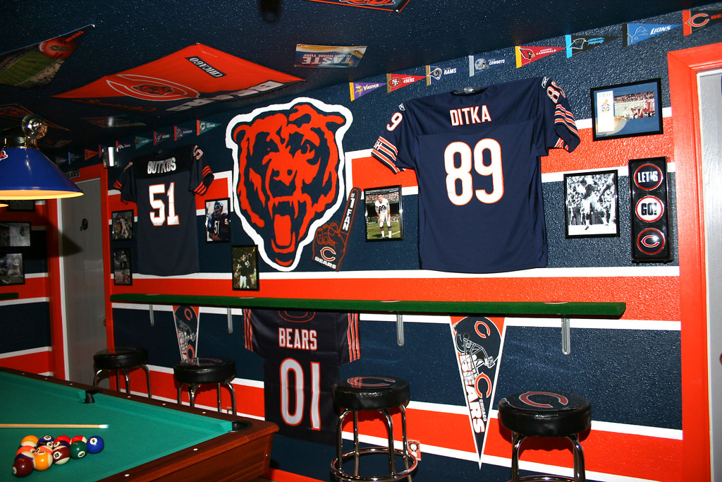 Chicago Bears Mancave Joe Reisinger Flickr