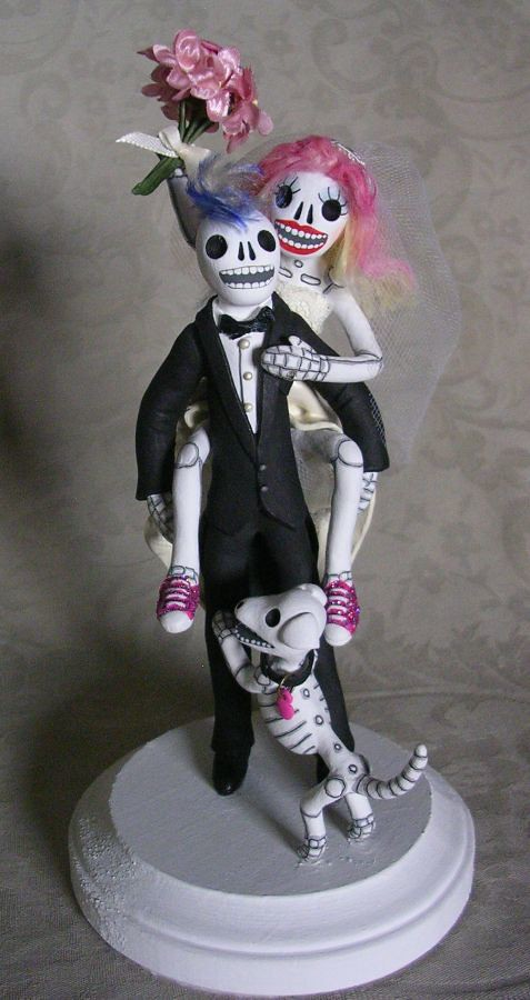 skeleton wedding cake toppers day of the dead wedding cake topper colorful skeleton 20175