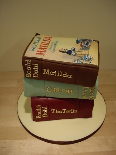 A brilliant stack of Roald Dahl books for a little girl playing Matilda in the musical! | by The Foxy Cake Company