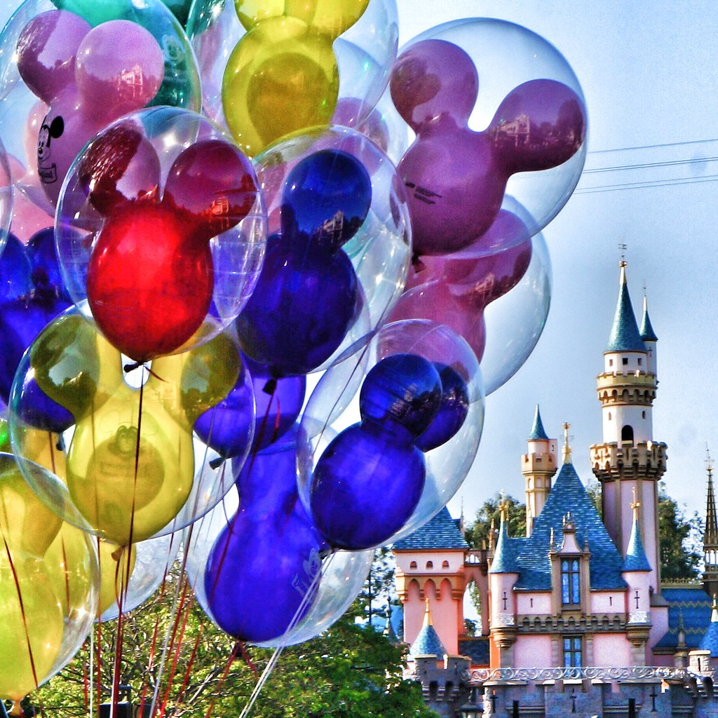 Disney balloons and castle images for What to do with balloons