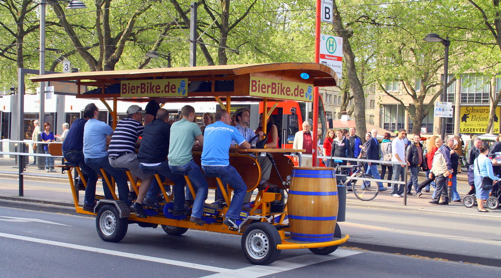 Beer Bike Drink Amp Drive A Group Of Friends Having