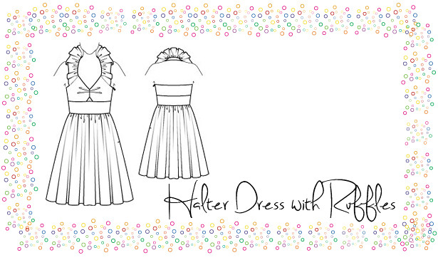 Halter Dress with Ruffles