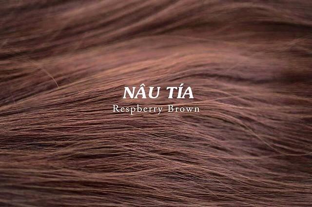 Mầu tóc nâu tía