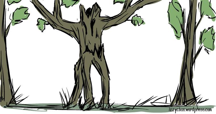 creepy tree monster