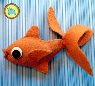 Wool Felt goldfish | by AmericanFeltandCraft.com