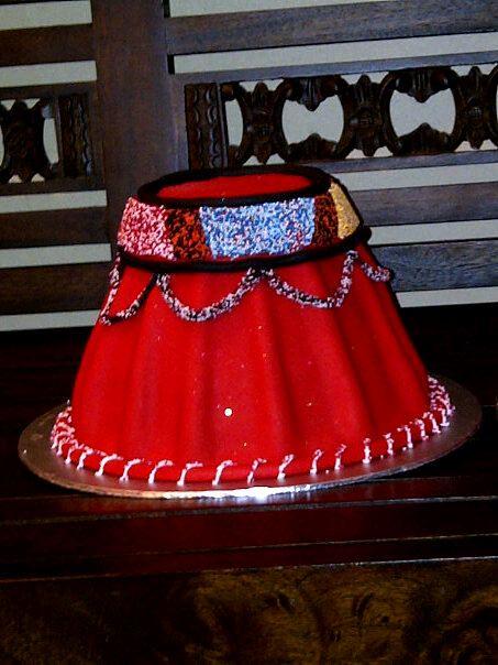 Traditional Zulu Hat Wedding Cake
