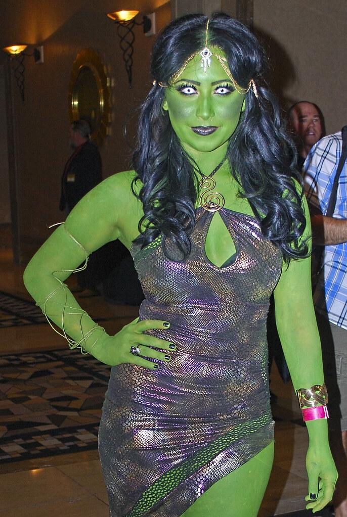 Green Paint Girls Jpg