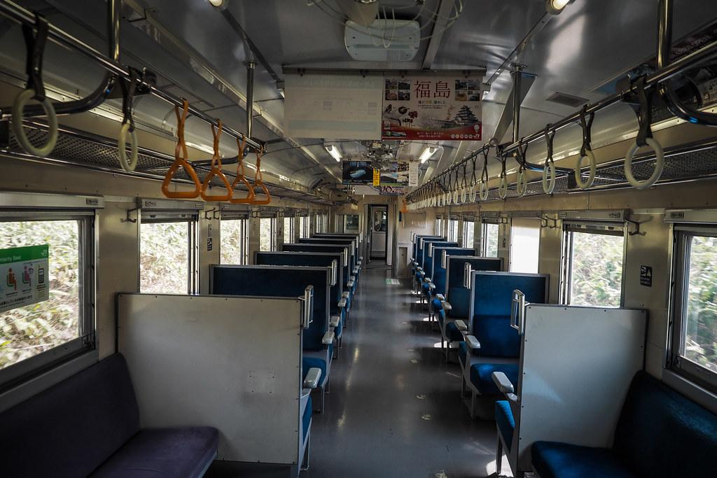 On the one-man train near Ranshima (Hokkaido, Japan)