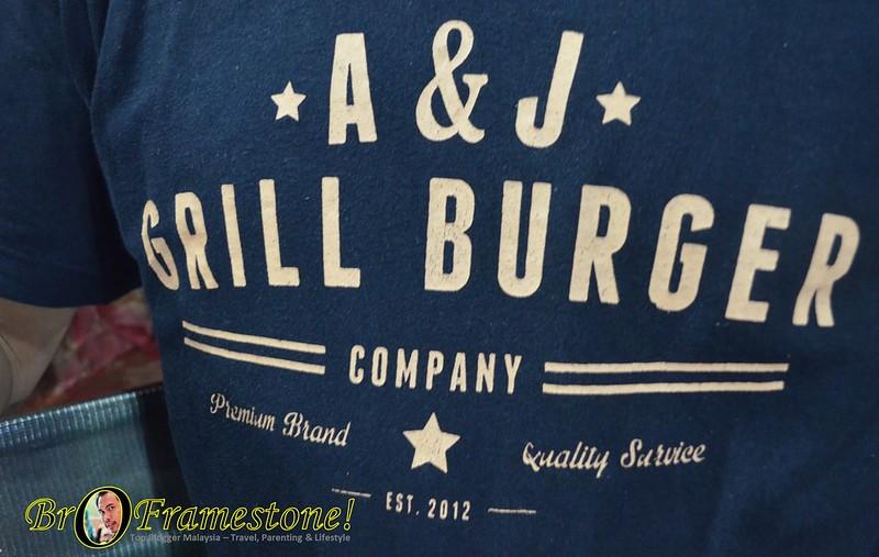 T-Shirt A&J Burger Grill, Sungai Buloh
