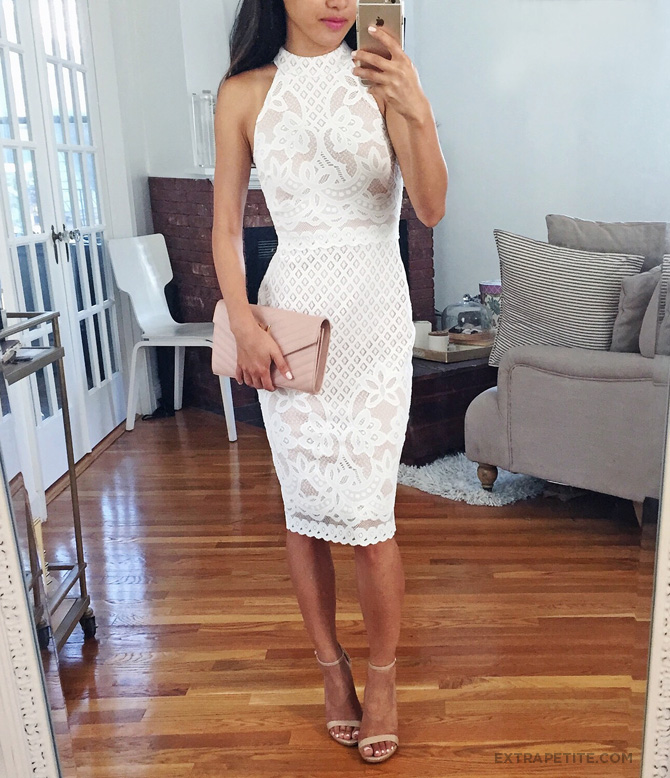 asos little white lace petite dress
