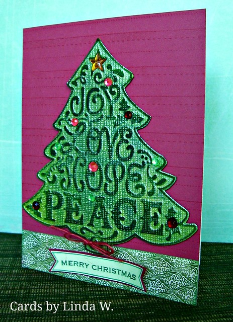 Joy Love Hope Peace Christmas Tree