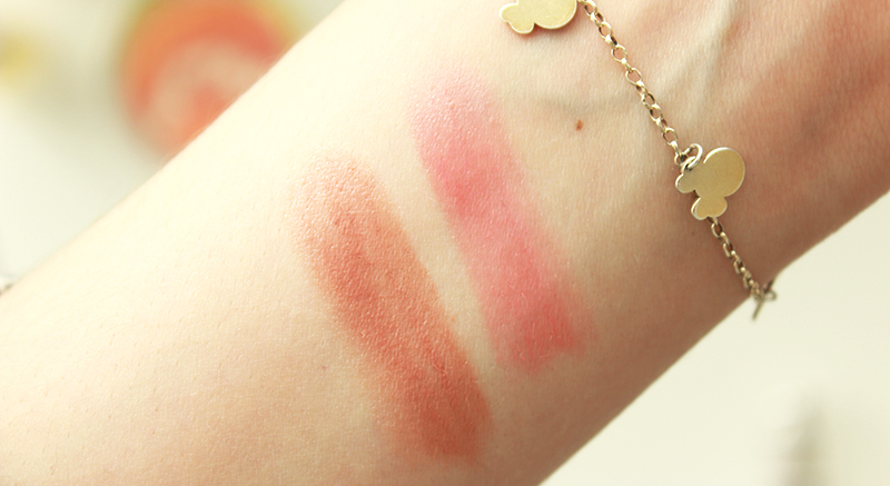 Dior Tie Dye Addict Lipsticks Swatches Nude Fever & Red Bliss