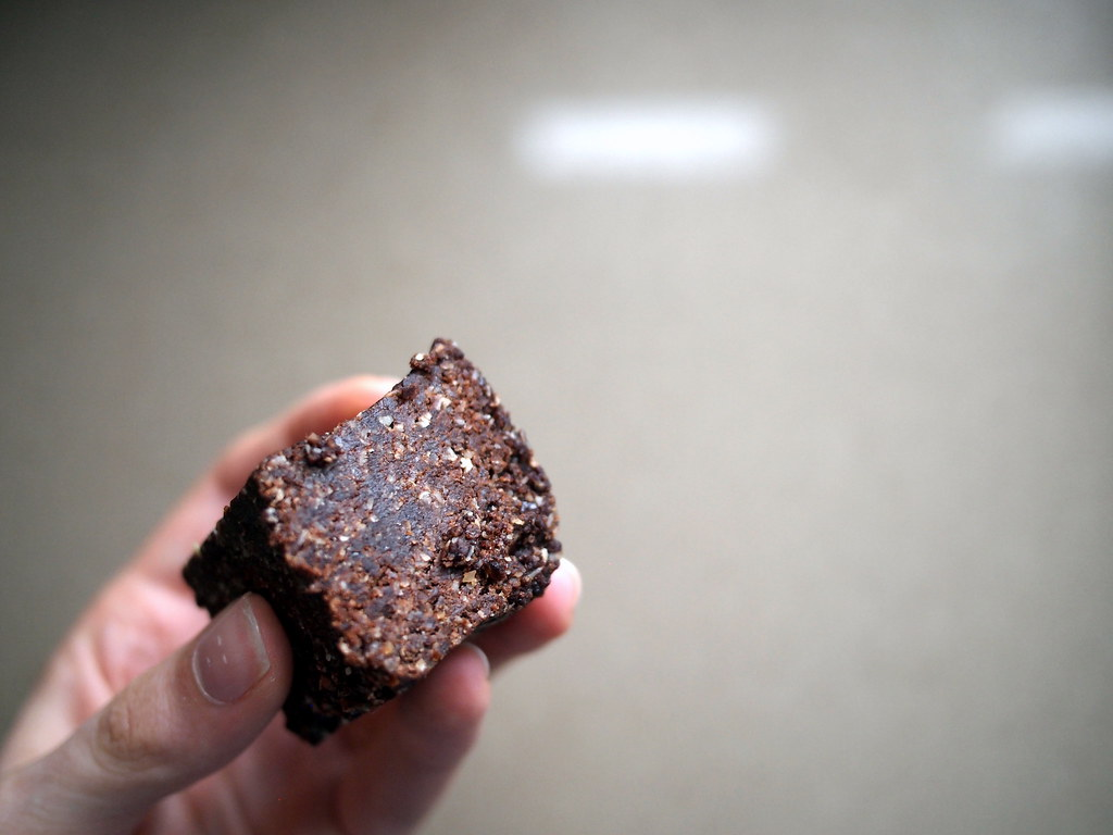 Raw chocolate oat slice