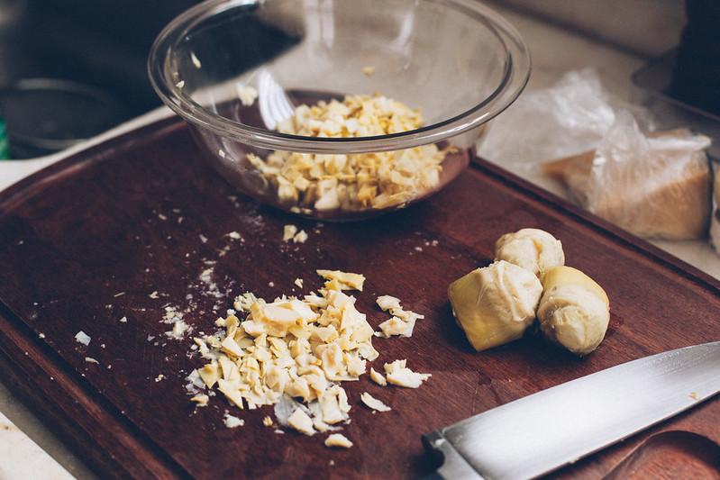 Pasta de Alcachofra Gratinada