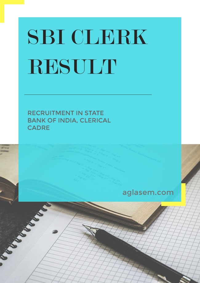 SBI Clerk Result 2018