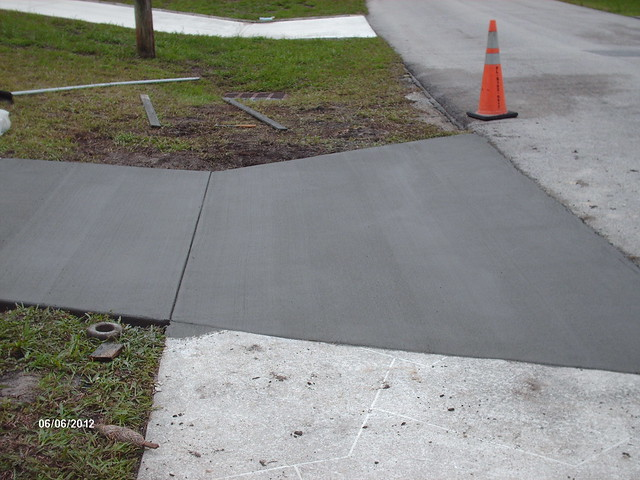 Driveway apron remove replace flickr photo sharing for Removing concrete driveway