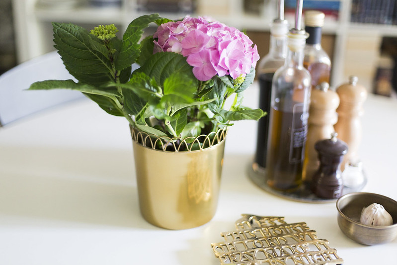 hortensia och köksbordet