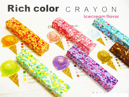 ice cream crayons
