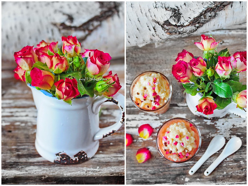 dessert Conde & rosе marmalade collage