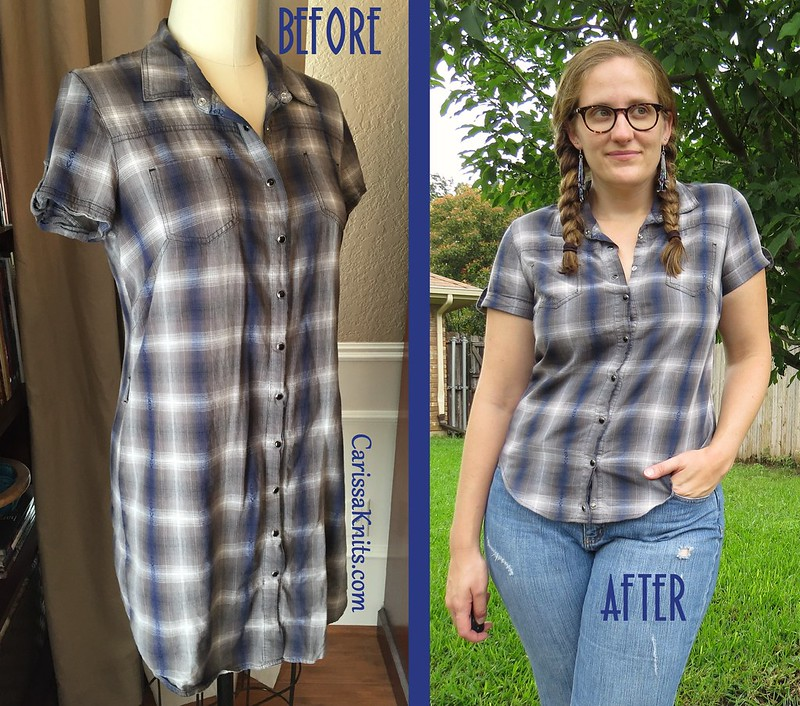 Snappy Plaid - Before & After