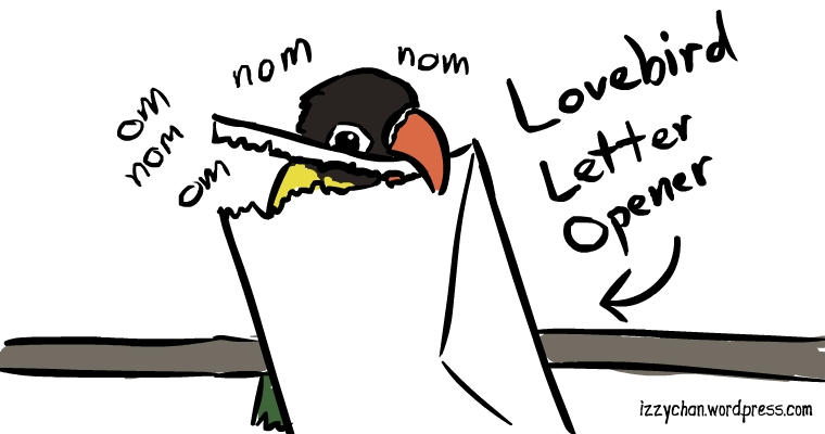 lovebirds love to make paper strips