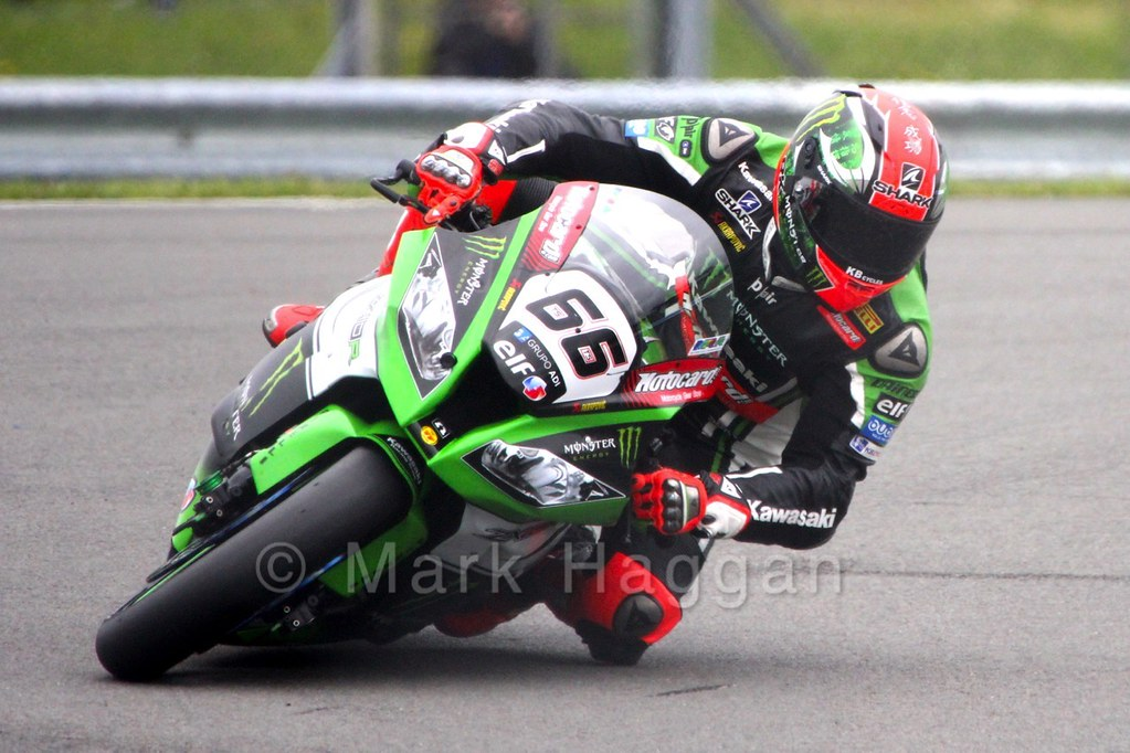 Tom Sykes in World Superbikes at Donington Park, May 2015