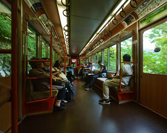 Tren llegando a Hakone