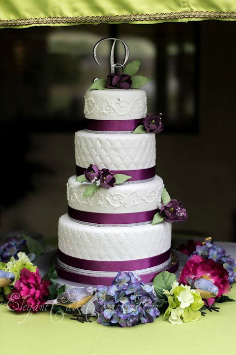 Plum Tulips Wedding Cake One Of My Popular Designs I