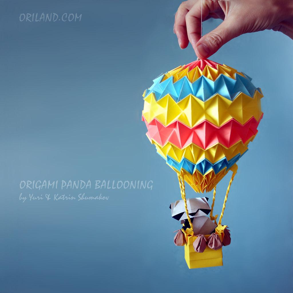 Origami Balloon Diagram Origami Panda Ballooning