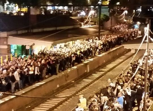 Crowds at Jolimont after the football. (Pic: Shane Shingles)