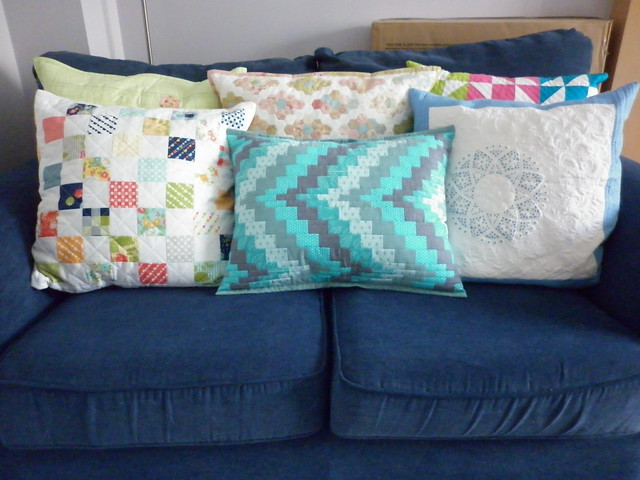 Bargello cushion with friends