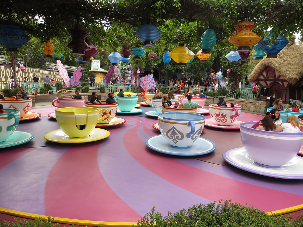 Mad Tea Party Fantasyland Disneyland Anaheim Californi